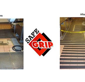 Prison kitchen safety issue solved by anti-slip strips