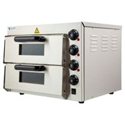 Commercial Countertop Electric Pizza Deck Oven Double – 2.4kW