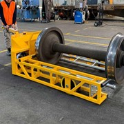 Drum Lifter and Powered Wheelset Mover for Train Bogies