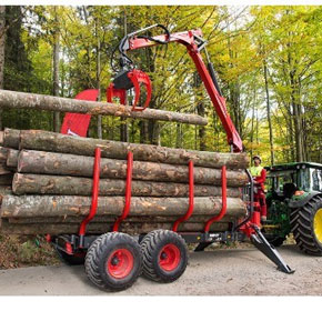 Forestry Equipment | GP Forestry Trailer with GD Crane