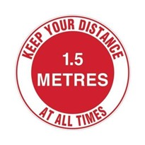 Marking Sign - Keep Your Distance At All Times - 1.5m | 879188