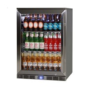 Rhino Alfresco Kitchen Glass Door Outdoor Bar Fridge | GSP1HL-SS