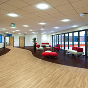 Non Slip Safety Flooring | Polysafe Wood FX | Acoustic PUR