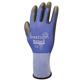 Nylon Gloves Black Polyurethane Coating - Mataro - M Series