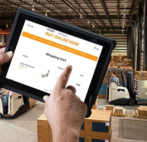 Crown to sell hand pallet trucks online