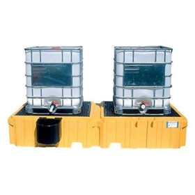 IBC Spill Pallet Twin Side By Side 2 Tank