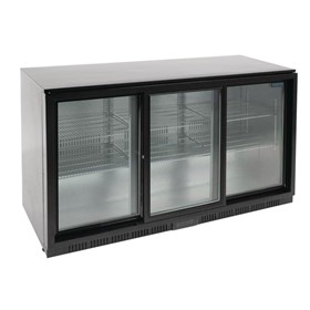 Under Counter Back Bar Fridge with Sliding Doors 320Ltr | G-Series