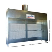Industrial Open Face Dry Filter Spray Booth