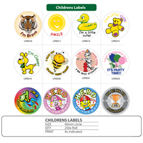 Children's Labels and Stickers for the Medical Field