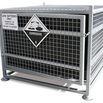 Transportable Battery Cage |  Dangerous Goods Storage | 150 Litre