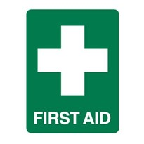 First Aid 300x225 Poly Sign