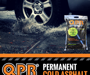 QPR asphalt pothole repair that works in wet conditions open to traffic immediately