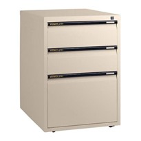 Low Height Filing Cabinet – One File Drawer + Two Personal Drawers