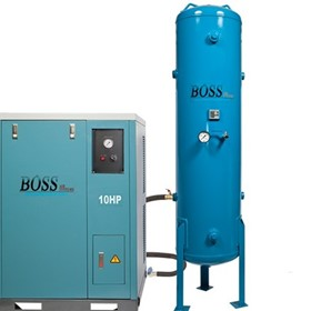 BOSS - 48CFM/10HP Silent Air Compressor(300L) - BQT50P-300L
