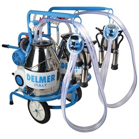 Double Bucket Milking Machine Trolley