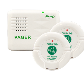 Fall Alarm | Two Call Buttons & Pager Kit for The Elderly