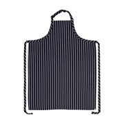 Large Navy/White Stripe Bib Apron