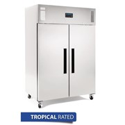 Polar 2 Door Upright Freezer 1200Ltr Stainless Steel - DL896-A