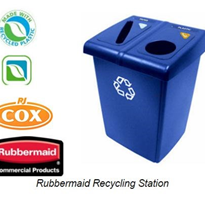 Rubbermaid 256T73 2-Glutton Recycling Station | R.J. Cox