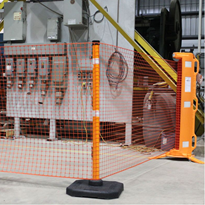 Portable Retracting Roll-Up Safety Barrier Screen