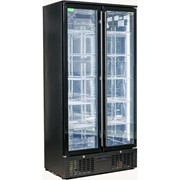 Rhino | 2 Door Triple Glass Bar Fridge Black Upright | SGT2-B