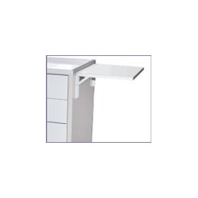 Optional Folding Side Shelf for Medication/Equipment Carts