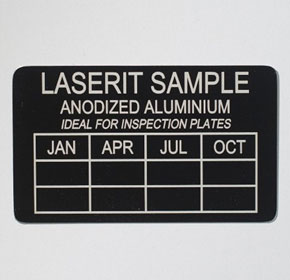 Anodized Aluminium Label Plates | Laserit