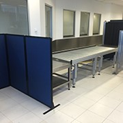 Create baggage screening areas at Sydney Airport with mobile dividers