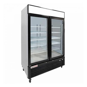 Double Glass Door Upright Display Freezer