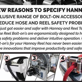 Bolt-on Hose Reel Accessories for Hannay Reels