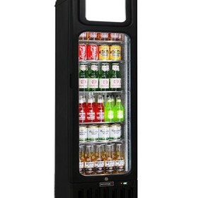 Glass Door Skinny Tall Upright Display Bar Fridge - 135 Litre