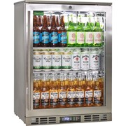 Rhino Stainless Steel 1 Heated Glass Door Bar Fridge|SG1R-HD