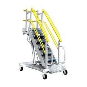 Ground Support Rolling Platform Ladder | G-Series