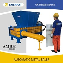 UK Enerpat Automatic UBC Metal Baler | Tin Cans Metal Baling Machine
