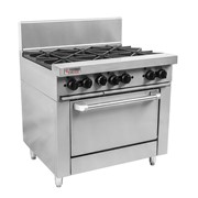 RCR9-6-NG Trueheat RC Series 6 Burner Oven Range