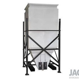 2000L Side Discharge JACKY Bin with Stackable Steel Base