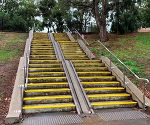 Advance Anti-Slip stair nosings on concrete steps