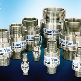 Low Cost 316SS Threaded Line Vac Turns Pipe into a Conveyor