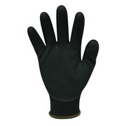 Nylon Gloves Black Sandy Foam Nitrile Coating - Milan - M Series
