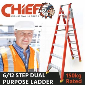 CHIEF Fibreglass Dual Purpose Ladders