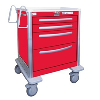 Aluminium Crash Cart | Waterloo USRLA-3369-RED
