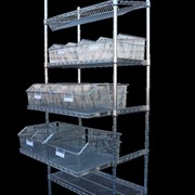 Sterimesh Wire Shelving with Telescopic Shelves