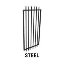 975mm wide Steel Security Gate - 2.1m high