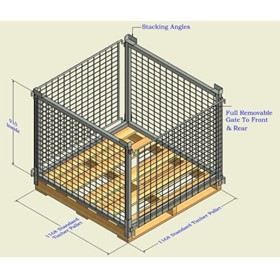 Collapsible Timber Pallet Cage | FTPC202