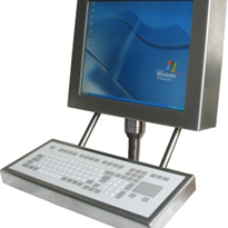 Computer Workstation Operator Panel - Stainless Steel