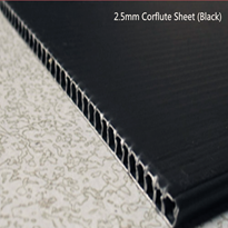 Black Corflute Plastic Sheet