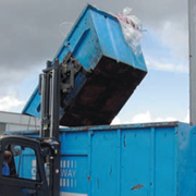 360 Degree Rotator Bin Dumper Forklift Attachment