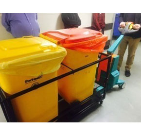 Ensuring staff safety is a priority with this rubbish trolley