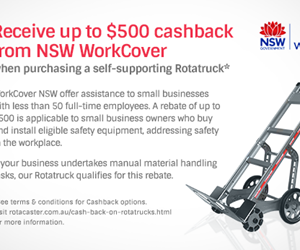 Receive up to $500 cashback from NSW WorkCover