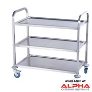 3 Tier Stainless Steel Service Trolleys | GCI-PRD-S3